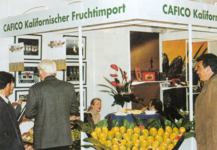 CAFICO Fruchtimport Messestand 4-2000